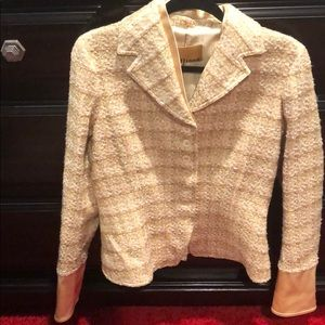 John Galliano Cream tweed blazer
